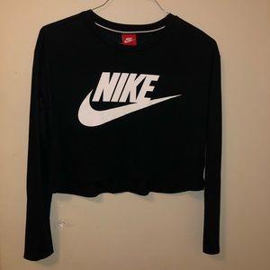 Nike long sleeve crop top